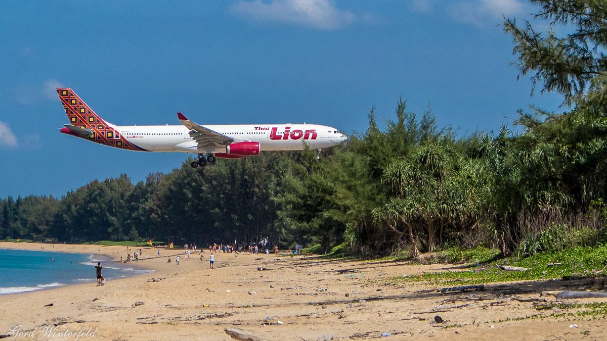 Boeing 737 der Lion Air, Endanflug Phuket