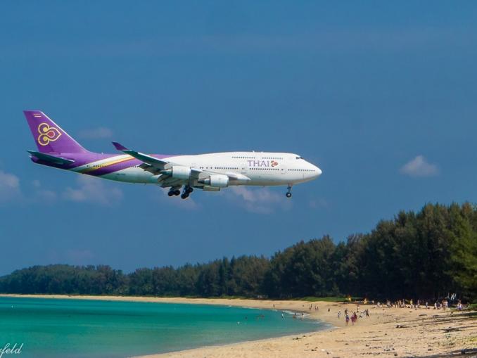 Planespotting Phuket, Thai Airways, Boeing 747-400